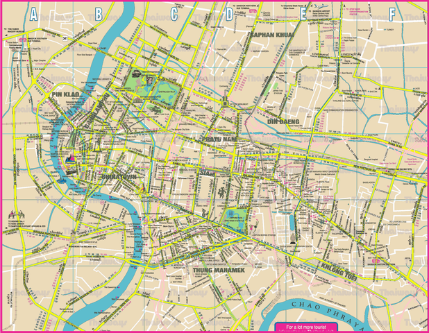 The Bangkok tourist map