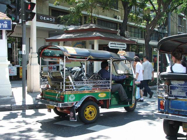 Tuk-tuk, the alternative transportation in Bangkok