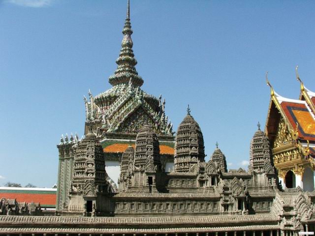 A part of the Emerald Buddha temple complex