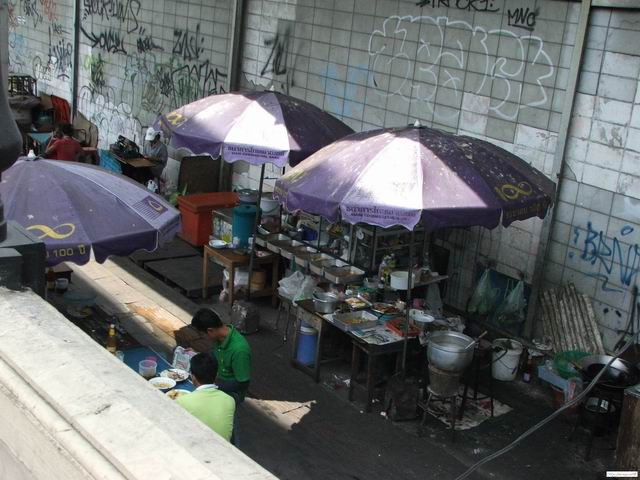 Outside kitchens in Bangkok