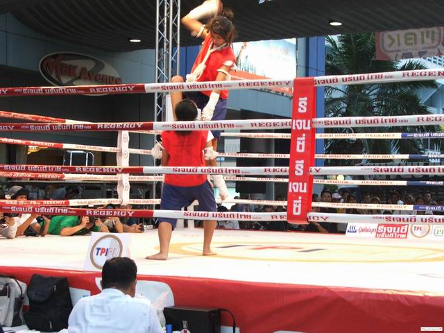 Traditional Muay Thai demonstration