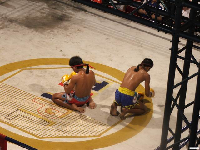 Muay Thai fighters are preparing for a battle