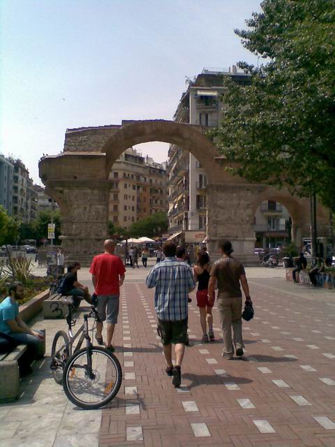 Bulgarians walking in Thessaloniki