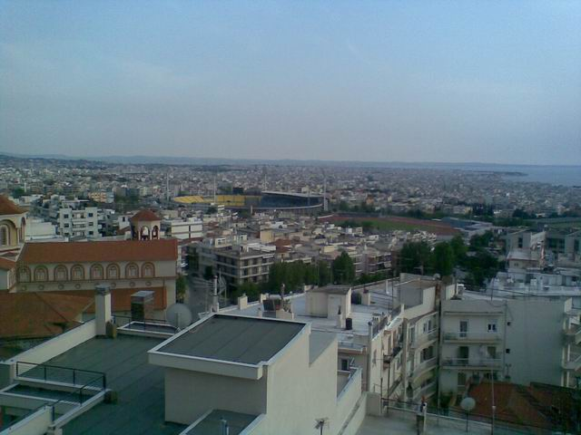 A view from the hostel's terrace