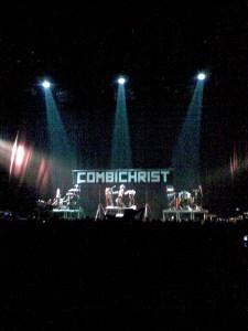 Combichrist performance at Beogradska Arena